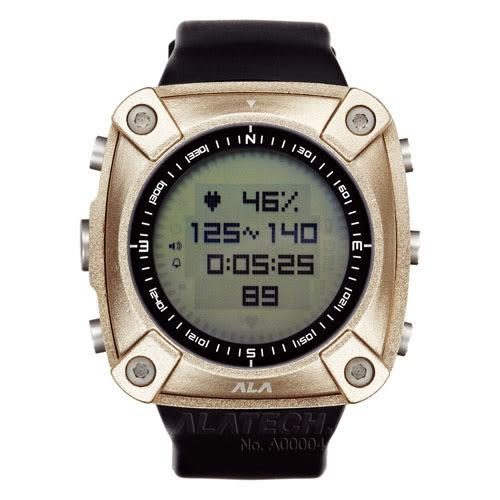 ALATECH 新版 OP100 專業 心率錶 登山錶 - 古銅色