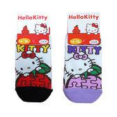 non-no儂儂褲襪《5入》日本製三麗鷗童襪(kitty蘋果拼圖)4237-118