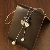 個性珍珠吊墜毛衣鏈長款秋冬裝飾項鏈女LJ1938『夢幻家居』