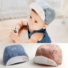 小貓咪小童寶寶鴨舌帽 棒球帽 防曬帽 遮陽帽 (帽前緣有軟鐵絲可上翻定型) 橘魔法 Baby magic 兒童