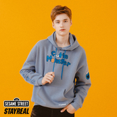 STAYREAL x 芝麻街 多色帽T(餅乾怪獸) - 藍