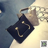 新款歐美大包 氣質潮女定型包 pu皮復古鐵把手提包直銷