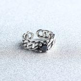 戒指 925純銀 瑪瑙-麻花線條生日情人節禮物女開口戒73gp49[時尚巴黎]