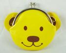 【震撼精品百貨】MILK TEDDY _泰迪熊 ~ 珠扣零錢包『臉-黃』
