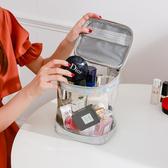 化妝包 透明洗漱包簡約防水大容量健身洗浴洗澡包旅行便攜化妝包女收納包【快速出貨】