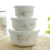 飯盒陶瓷碗套裝微波爐骨瓷碗帶蓋有泡面碗小號蒸碗中號蒸蛋碗家用