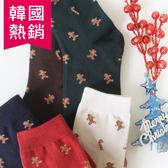 韓國 滿版薑餅人 拐杖糖 襪子 長筒襪  聖誕禮物
