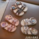寶寶涼鞋防滑軟底兒童沙灘鞋2021年夏季新款網紅水鉆女童公主鞋子 科炫數位