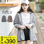 LULUS特價-E單釦口袋格紋外套-2色  現+預【03060220】