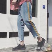 九分牛仔褲春季新品牛仔褲九分褲正韓潮流哈倫褲褲子男士寬鬆直筒褲