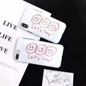 【SZ14】簡約韓風笑臉光面  iphone XS MAX手機殼 iphone XR XS手機殼 iphone 8plus手機殼 i6s plus手機殼 iphone X