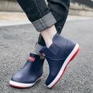 雨靴 新款雨鞋男短筒低幫水鞋時尚套鞋防滑膠鞋防水工作鞋戶外成人雨靴 宜品