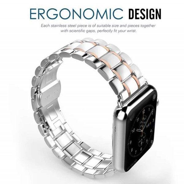 【日本SAKULA】預購 平行輸入 Apple Watch 2/3/4 LTE 38/42mm 不銹鋼錶帶 四色可選 贈長度調器
