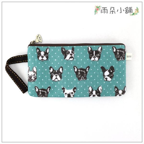筆袋 包包 防水包 雨朵小舖D01-606 筆袋-綠法鬥頭點點08065 funbaobao