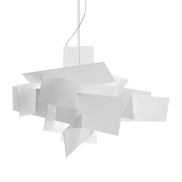 義大利 Foscarini Big Bang Suspension 堆疊 吊燈(白色 - Big Bang)