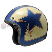 [中壢安信]瑞獅 ZEUS ZS-380FA 380 FA 彩繪 K56 銀藍紅 安全帽 手工縫邊 復古帽