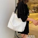 包包女2020新款潮韓版ins百搭簡約大容量托特包單肩斜挎手提大包 小艾時尚