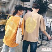 ulzzang原宿風情侶裝夏裝半袖bf韓版潮寬鬆T恤女短袖上衣學生班服 全館8折