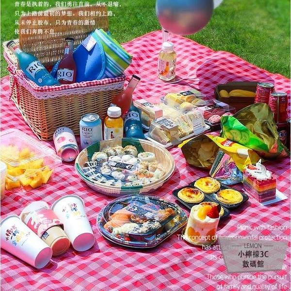 野餐墊子便攜防水加厚日式野餐布戶外防潮墊【小檸檬3C】
