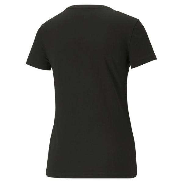 【現貨】PUMA Ess 女裝 短袖 歐規 純棉 黑 燙金【運動世界】58689001