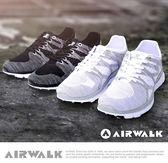 【AIRWALK】幾何線條編織慢跑鞋-白色
