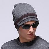 針織毛帽-冬季包頭禦寒羊毛男帽子3色71ag31[巴黎精品]
