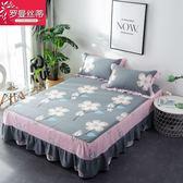 (聖誕交換禮物)全棉床裙單件床套棉質床罩床墊防滑保護套1.5m/1.8米花邊床單裙罩