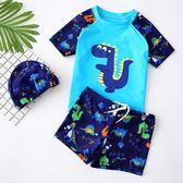 兒童泳衣男童分體泳褲套裝男孩中大童卡通泳裝小童寶寶游泳裝備潮