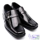 皮鞋.鞋扣款.紳士亮面皮革方頭耐穿皮鞋....
