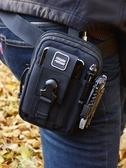 戰術包  新款戶外運動戰術腰包男士多功能手機腰包斜背手提小掛包附包 夢藝家