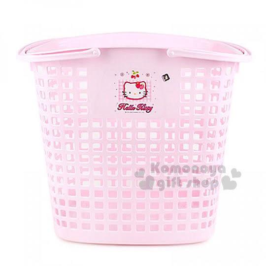 〔小禮堂〕KITTY 汙衣置物籃《粉紅‧草莓》輕鬆美化空間 8805396-13002
