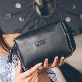 復古防水化妝包小號便攜韓國簡約大容量化妝袋女隨身化妝品收納包   芊惠衣屋