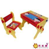 台灣 Kikimmy 小博士畫板書桌椅組 紅色款 K020-R