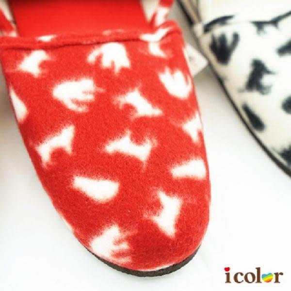 icolor 秋冬貓咪室內拖鞋