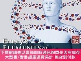 二手書博民逛書店Emery s罕見Elements of Medical Genetics,醫學遺傳學,第15版,英文原版Y4