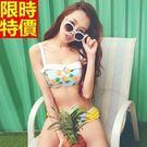 比基尼泳衣鳳梨圖案-閃耀夏天日系甜美兩件式女泳裝67h2【時尚巴黎】