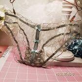 五彩繽紛 少女甜美可愛蝴蝶結透明褶皺網紗蕾絲性感鏤空內褲女「時尚彩虹屋」