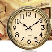 【免運快出】 復古靜音掛鐘客廳臥室歐式田園鐘錶石英鐘掛錶大號 奇思妙想屋