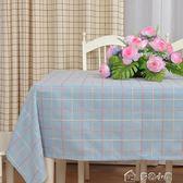 美式桌布布藝棉麻長方形格子田園小清新茶幾圓桌方餐桌蓋布巾訂製  多色小屋