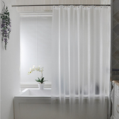 浴室洗澡浴簾套裝免打孔防水加厚衛生間淋浴隔斷簾子掛簾門窗簾布JD 聖誕交換禮物