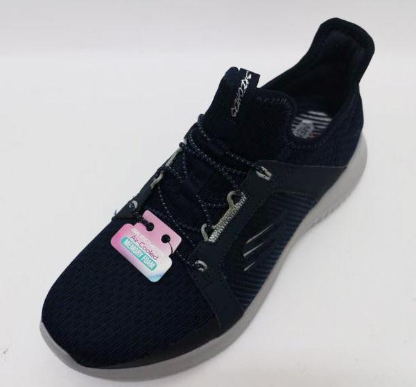 58折 SKECHERS AIR-COOLED 女款 藍色 加強透氣型 記憶棉鞋墊 跑鞋 健走 12832NVY  [陽光樂活]