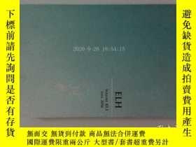 二手書博民逛書店ELH罕見VOLUME 83.3 FALL 2016 英國文學Y14610