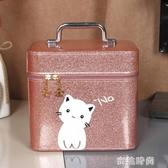 化妝包大容量網紅小號便攜少女可愛收納盒韓國ins簡約化妝箱手提『蜜桃時尚』
