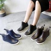 雨鞋男士水鞋雨靴男款防滑防水鞋短筒低筒套鞋膠鞋廚房工作鞋 蘿莉小腳ㄚ