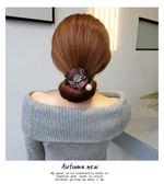 【優選】丸子頭水鑚花朵盤發器鬆花苞頭扎頭發飾
