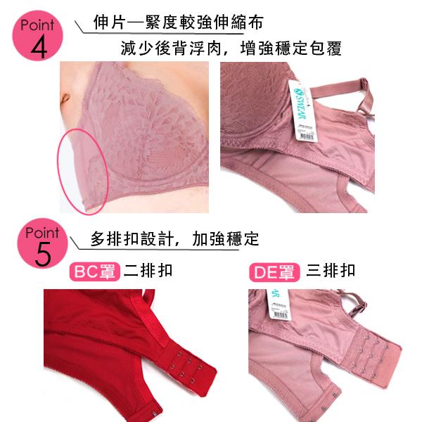 思薇爾-星幻美波系列B-F罩蕾絲包覆內衣(莓果紅)