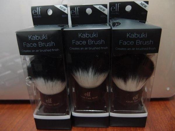 【愛來客 】美國直運~美國ELF黑柄Kabuki Faced Brush 專業歌舞伎刷/蘑菇刷 蜜粉刷(現貨)