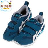 《布布童鞋》asics亞瑟士深藍白窄版兒童機能運動鞋(16~22公分) [ P8T007B ]