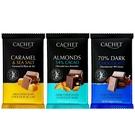 比利時CACHET凱薩巧克力300G (焦糖海鹽/杏仁醇黑/70%)