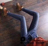 牛仔長褲/高腰女緊身小腳褲鉛筆「歐洲站」